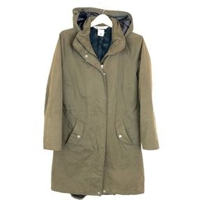 Columbia Women's Army Green Hooded Puffer Parka
